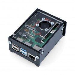Raspberry Pi Case Model 4B with fan - black
