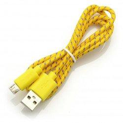 Esperanza USB-microUSB 2.0 EB17YK - braided 1m