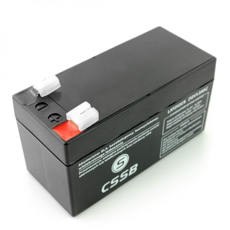 Gel rechargeable battery 12V 1.2Ah ST