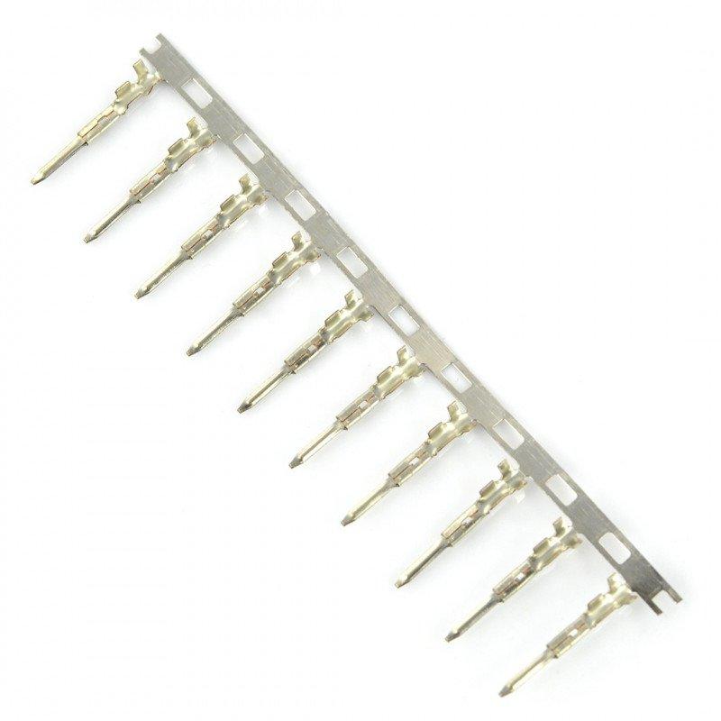 Male Pin for 2.50mm raster socket housing 10 pcs.