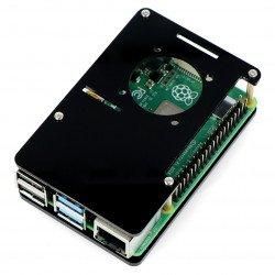 Raspberry Pi Case Model 4B/3B+/3B/2B - open black LT-4B04