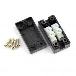 Kostka elektryczna 2pin 8A/450V in case
