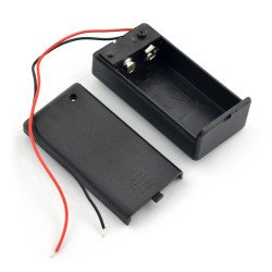 9V battery basket (6F22) with cover and switch