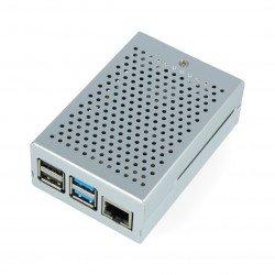 Raspberry Pi 4B - aluminium with fan - silver
