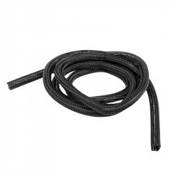 Self-closing braiding for cablesLanberg 13mm black polyester 5m