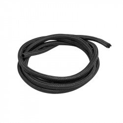 Self-closing braid for Landberg cables 6mm black polyester 2m