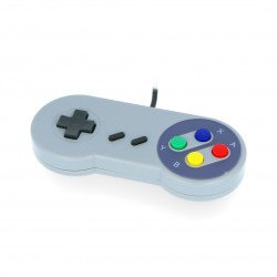 PiHut SNES - retro USB gaming controller - compatible with Raspberry Pi