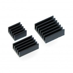 Set of black heat sinks - 3pcs.