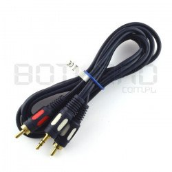 Jack cable 3,5 - 2 x RCA 1,5m