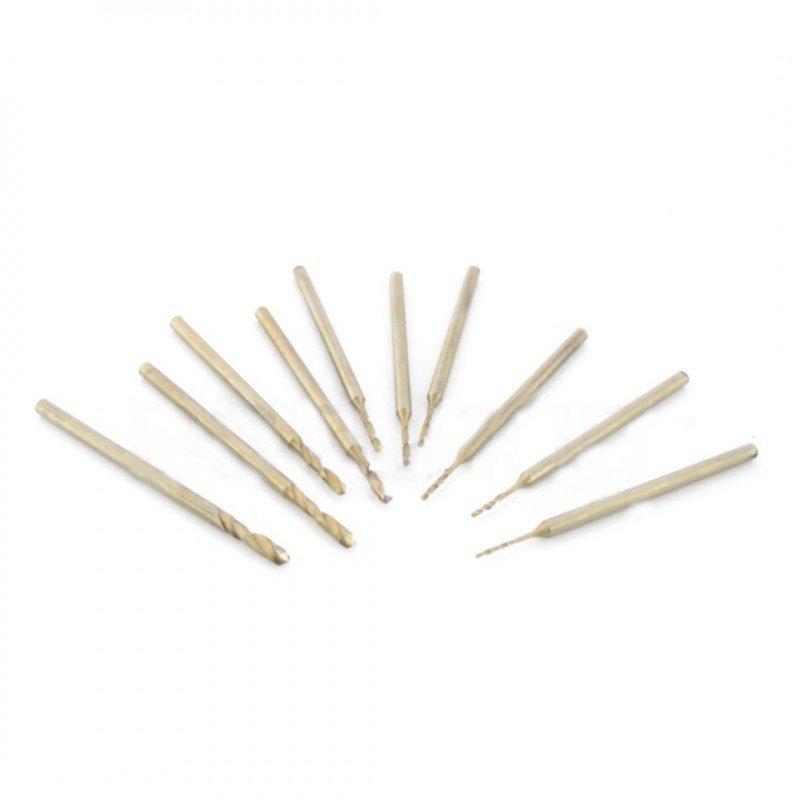Miniature drills 10pcs - 0.6 to 2.3 mm