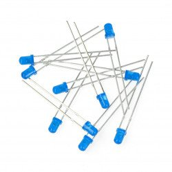Led 3mm blue - 10pcs.