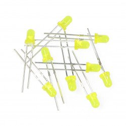 LED 3mm yellow - 10pcs
