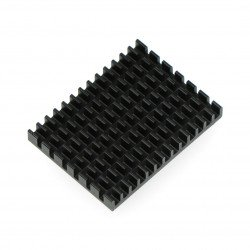 Heat sink 40x30x5mm for Raspberry Pi 4 with thermal conductive tape - black