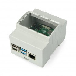 Raspberry Pi model 4B for DIN rail - ABS - grey - LT-4A03