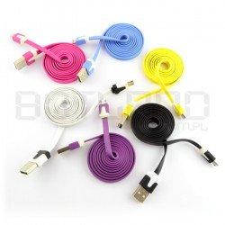 Rainbow microUSB B cord -...