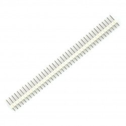 Straight goldpin 1x40 connector with 2.54 mm pitch - blue