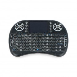 Mini RGB K800I wireless keyboard + touchpad Mini Key - black