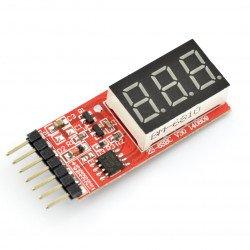 Li-Po 2-6S voltage meter