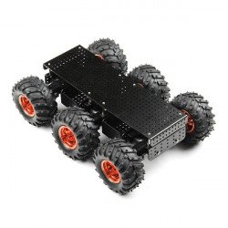 Dagu Wild Thumper 6WD Chassis Black - 6 Wheel Chassis with DC