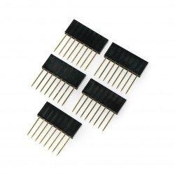 Female socket extended 1x8 raster 2,54mm for Arduino - 5pcs