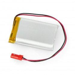 Battery Li-Pol Akyga 1850mAh 1S 3.7V - JST-BEC connector + socket - 40x30x10mm