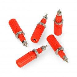 AL2418 socket - red - 4mm