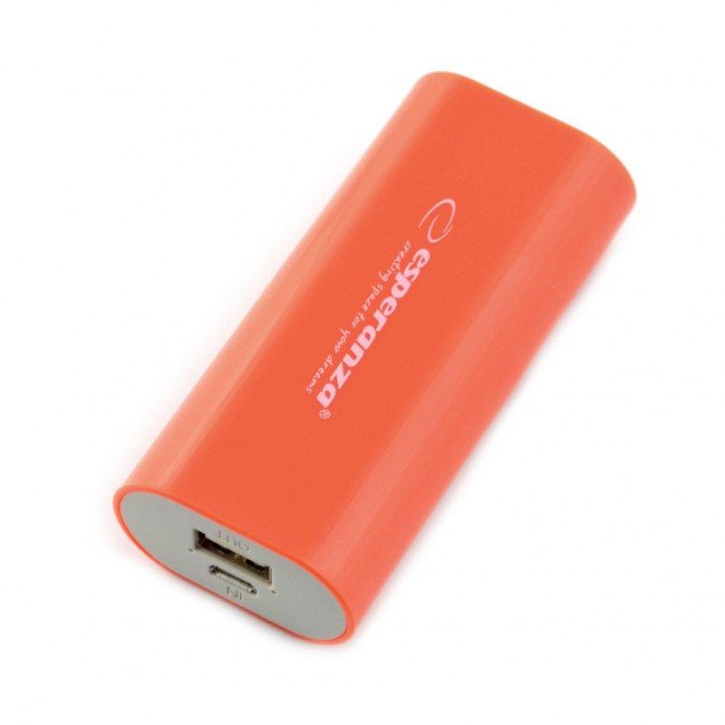 Mobile battery PowerBank Esperanza Hadron EMP105R 4400mAh red