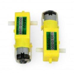 DC Dagu DG01D 120:1 4.5V double-shaft motor - 2 pcs.