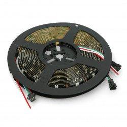 RGB LED bar WS2812B - digital, addressed - IP65 30 LED/m, 9W/m, 5V - 5m - black