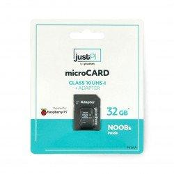 Raspberry memory card Pi micro SD / SDHC + NOOBs system