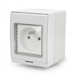 Sonoff S55 intelligent socket in a hermetic housing