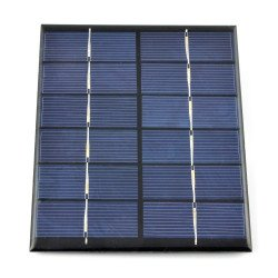 2W / 6V solar cell 136x110x3mm USB