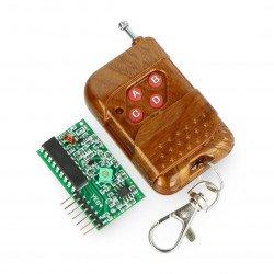 Four-channel 433 MHz radio module + remote control
