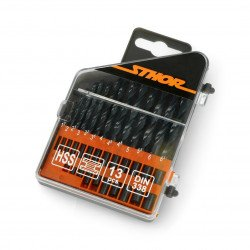 Metal drill bit set 1.5-6.5mm 13pcs