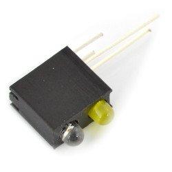 LED zielono / żółta w oprawce