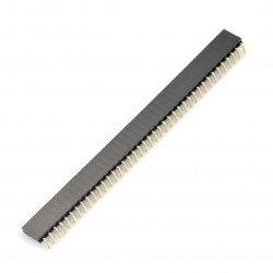 Female slat 1x40 angle raster 2.54mm