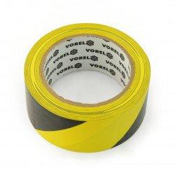 Black and yellow adhesive warning tape 48mm x 33m
