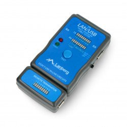 Cable tester RJ45/RJ11/RJ12/USB - Lanberg NT-0403