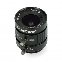 Wide angle lens CS Mount 6mm with manual focus - for Raspberry Pi - ArduCam LN037