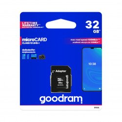 Memory card Goodram micro SD / SDHC 32 GB UHS-I class 10 with adapter