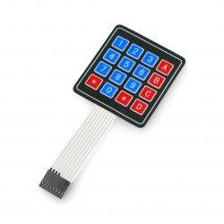Self-adhesive membrane keypad 4x4 - 16 keys