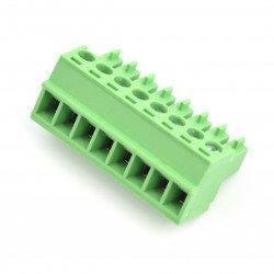 Assembly bar female 8-pin, raster 3,5mm