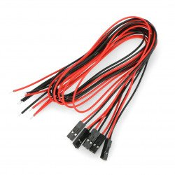 Set of 5 wires with 2pin female plug, 2,54mm raster - 40cm