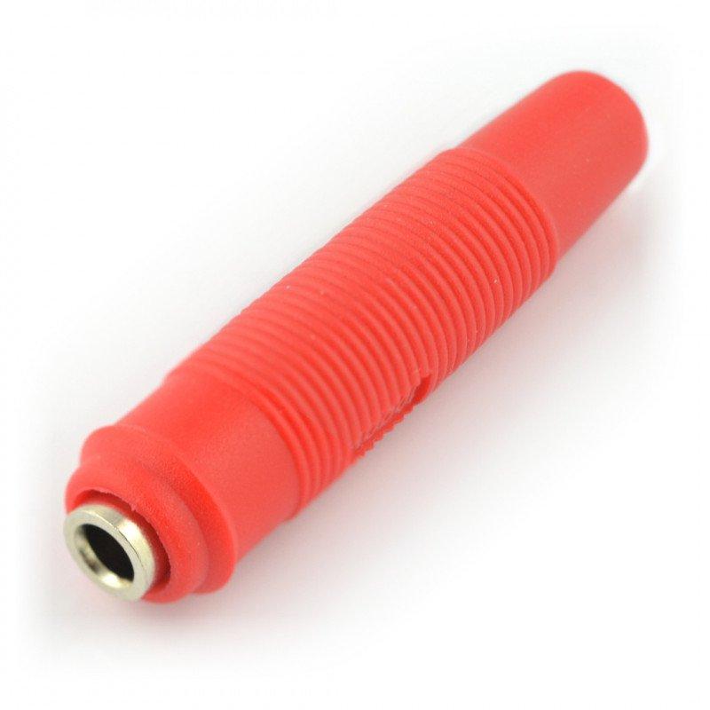 AL2319 socket - red - 4mm