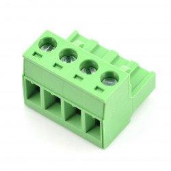 Assembly bar female 4-pin, raster 5,08mm