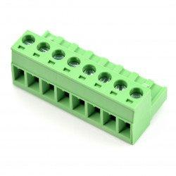 Assembly bar female 8-pin, raster 5,08mm, steel