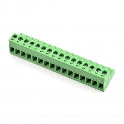 Assembly bar female 16-pin, raster 5,08mm, steel