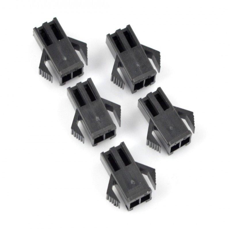 2-pin female socket housing - 2.5mm raster