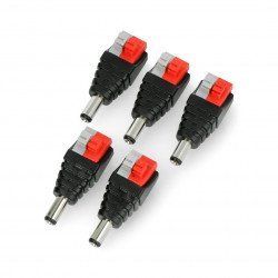 DC 5.5 x 2.1mm plug with quick coupler and buttons