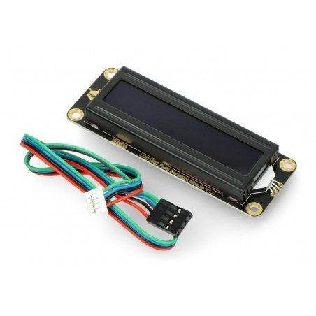 DFRobot Gravity - 2x16 I2C LCD display - black with RGB